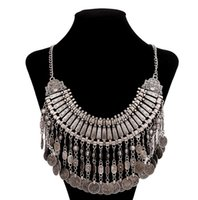Wholesale Chains For Sale Cheap - Tassel Europen alloy vintage fashin necklace for party,souvenir use necklace cheap sale formal event or show use