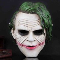 Wholesale Dark Batman Film - Batman The Dark Knight Anime Film Mask Full Face Resin Horror Clown Cosplay Mask Halloween Party Supplies Cosplay Costume Decoration SD331