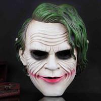 Wholesale Dark Knight Batman Costume - Batman The Dark Knight Anime Film Mask Full Face Resin Horror Clown Cosplay Mask Halloween Party Supplies Cosplay Costume Decoration SD331