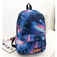 Wholesale New Galaxy Stars Universe Space printing backpack women men school backpack bag