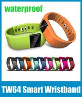Wholesale Quality Photographs - TW64 Smart Bracelet Bluetooth Waterproof Anti Lost Wristband Call Reminder Remote Photograph Wrist Watch High Quality OTH048