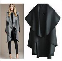 Wholesale New Poncho Fashion - Free Shipping Hot Sale Women's Fashion Wool Coat, Ladies' Noble Elegant Cape Shawl. ladies poncho wrap scarves coat 2015 new