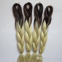 Wholesale 613 kanekalon braiding hair online - Kanekalon Jumbo box Braid Synthetic Hair inch g Brown Blonde Ombre Two Tone Colored Hair Extension