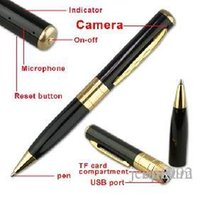100 / lot blacksilver pen mini macchina fotografica 720P1080P SPY Video Record Camera Pen HD DVR memory card Micro SD Card nascosta