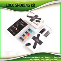 Wholesale Smoking Starter - COCO SMOKING 220mAh Ultra Portable Vape Pen Starter Kit For JUUL Vapor Pod Cartridge Vaporizer Kits Free DHL Fedex