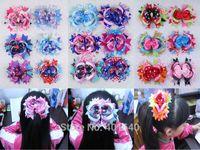 Wholesale Gift Ribbon Dots - Wholesale 18pcs 5inch Princess gift Baby Girl Dot Ribbon Hair Bows Clip 2023-2040