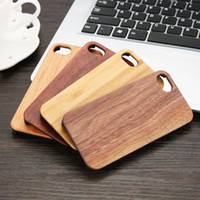 Para Apple iPhone X 8 7 6s plus 5se Cases Real Natural Wooden Bamboo Premium Unique Walnut Contraportada de madera para Samsung Galaxy S6 S7 S8