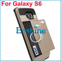 Für Samsung Galaxy S3 S4 S5 S6 Rand 2 in 1 TPU + PC Slide Case mit Wallet Card Slot