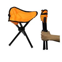 Wholesale camping chairs folding resale online - Camping Folding Portable Chair Outdoor Waterproof Foldable Aluminum Alloy Tube For Fishing Beach Hiking Picnic Wholeasle