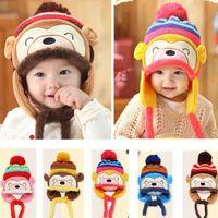 Wholesale Beret Hat Kids - Freeshipping ! New Fashion Winter Warm Kid Baby Girl Boy Ear Thick Knit Beanie Cap Hat