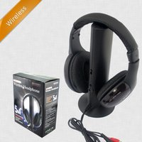 Wholesale Handsfree Tv - 5 In 1 Hifi Handsfree Headphone Gamer Wireless Headphones Gaming Headfone Built-In Microphone For PC TV DVD CNH03H-K60