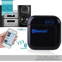 Wholesale Transmitter Iphone Tv - New Music Transmitter Bluetooth A2DP 3.5mm Stereo HiFi Audio Dongle Adapter Audio Transmitter for Phone MP3 MP4 TV iPad
