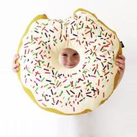 koltuk bebeği toptan satış-Dekoratif yastıklar Tatlı Çikolata Donuts Koltuk Gıda Yastık Şekerleme Donut Yastık Minder ev modern atmak kanepe kanepe Bebek Bebekler