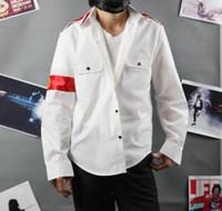 Wholesale Cte Shirt - Wholesale-New Hot Sale Free Shipping Michael Jackson CTE Style Shirt For MJ Fans White Black RED Color
