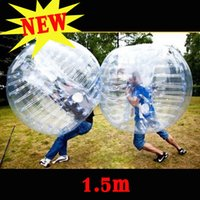 Wholesale Inflatable Human Body - NEW 1.0M 1.2M 1.5M 1.7M Body Inflatable Gum Bumper Football Zorb Ball Human Bubble Soccer Outdoor Team Toy gife Clear