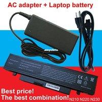 Wholesale N145 Battery - Long time- 1pcs AC Adapter+1pcs laptop battery For Samsung N210 NB30 X420 N220 X520 N145 NP-Q330-JS05RU NP-X418 N230-Storm AA-PB1VC6W