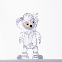 Wholesale Pretty Males - 2018 Pretty Puppy Shape Glass Bongs Glass Water Pipes Dab Rigs Oil Rigs14.4mm Male Joint Cheap Pipes Bubbler