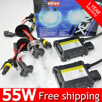 Wholesale Hid H1 Bulbs - DC 12V 55W Xenon HID Kit H7 H4 H1 H3 H8 H9 H11 880 9005 9006 4300K 6000K 8000k HID Xenon Bulbs Ballasts