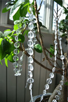 Wholesale Wedding Wishing Tree Wholesale - Free shipping 100 ft Clear Acrylic Crystal Bead Garland Diamond Strand for Wishing TREE Decor Wedding Decor