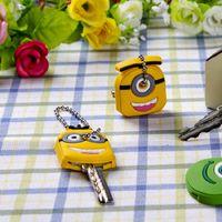 Wholesale Novelty Key Cases - Cartoon Animal Silicone Key Caps Head Covers Keys Keychain Case Novelty Topper Keyring Phone Strap*hot
