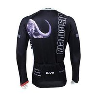 Wholesale Discovery Cycling Jersey Bib Shorts - discovery men cycling Jersey suits in winter autumn fall with long sleeve bike top & (bib) pants in cycling clothing, bicycle wear
