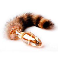 kedi kuyruğu anal plug toptan satış-Ücretsiz Kargo ile Seks Ürünleri Cam Anal Plug Tilki Kuyruğu Kedi Kuyruk Butt Plug Cam Anal Yapay Penis Yetişkin Seks Oyuncakları, Anal Oyuncak