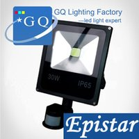 Wholesale 10W w w w w w led flood light new type V black shell PIR Motion sensor Induction Sense lamp