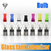 Vente chaude! 7 couleurs Wax Glass Globe Tank Dry Herb Vaporisateur Clearomizer 4.0ml atomiseur pour eGo t, ego c twist, vision spinner 2 e-cig battry
