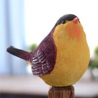 ingrosso decorazione del giardino degli uccelli-Nuovo design Resina Uccelli Simulazione Animali Giardinaggio Decorazione L'uccello Modellistica Casa Mestieri Sposi Regalo di compleanno Creativo All'aperto