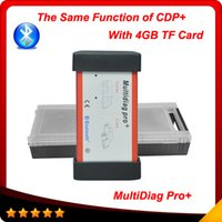 Wholesale Cdp New Design - tcs cdp+ 2015 new designed Multidiag pro+ 2014.2 version with 4GB TF card +bluetooth + plactis box free shipping