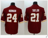 Barato Vender Mochilas De Futebol-Venda New Color Rush # 21 Sean Taylor 24 Josh Norman American College Futebol Stitched Embroidery Uniformes camisas Sports Team Pro Jerseys