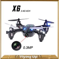Wholesale Hubsan Helicopter - 0.3MP Camera Drone X6 Quadcopter RC VS Hubsan X4 H107C 4CH 2.4G Remote Control Toys RC Helicopter with Camera and Light