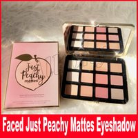 Wholesale Glowing Eyes - Newest Just Peachy Mattes Eyeshadow Palette Sweet Peach Blush Glow Kit Retail Matte And Glitter Finish Free Shipping Eye Shadow Palette