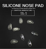 Wholesale Nose Pads Screw - silicone nose pad, eyeglasses nose pad 1000pcs glasses part screw in push in