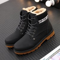 Wholesale Lightweight Ankle Boots - Mens Winter Snow Boots Ankle Outdoor Warm Fur Lining Booties Lightweight