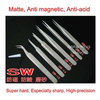 6 special assembly - RHINO SW Series Tweezers Switzerland Standard Scrub Anti magnetic Anti acid Superhard Special tip Precision Forceps Repair Watch Mobile etc
