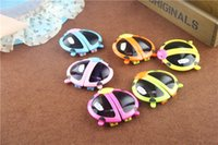 Wholesale Kids Beach Supplies Cartoon - 2015 hot Kids sunglasses Cartoons Fold the beatles Children's Beach Supplies ladybird Baby children's glasses hotsale