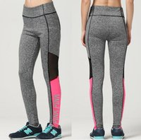 Wholesale Bottoming Pencil Pants - Fashion Fitness Leggings For Woman 2017 VS PINK Leggings Pants Women Pink Letters Print Pencil Trousers Quick-drying Tracksuits Bottoms