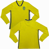 7ef5272b5 Sweden 2018 2019 Long sleeve Soccer Jersey 18 19 national team S SANTO  IBRAHIMOVIC KALLSTROM UARDRD Thai quality football shirt