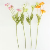 order poppies - New Arrival Beautiful Design Artificial Heads Poppy Stem Poppies Silk Flowers Home Wedding Party Decoration Colors order lt no track