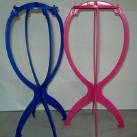 suporte de extensão venda por atacado-Chapéu da cabeça Cap Titular Perucas Stand Display Tool Acessórios Para o Cabelo Portátil Dobrável Peruca Stands Extensões de Cabelo Acessório