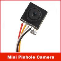 "Wholesale Small Cctv Cameras For Homes - 600TVL 500MP 1   4"" HD Smallest Mini Pinhole CCTV Camera CMOS Hidden Covert Cam for Home Security Video  Audio Surveillance"
