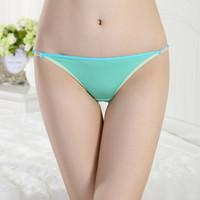 Wholesale Bikini Push Up Panty - w1025 Viscose Underwear Women Sexy Bikini Panty Muti Color Briefs Thong Push Up Panties Girls Underpant