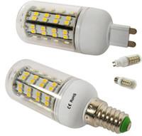 Wholesale G9 Cob Led Warm White - High Power B22 E14 E12 G9 GU10 E27 E26 Led Lights 69pcs 5050 SMD15W 1450Lm Led Corn Lamp Warm Pure White Led Bulbs
