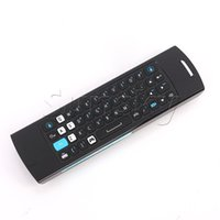 Atacado-MELE F10 Pro 2.4GHz Wireless Keyboard Fly Air Mouse Intelligent Remote Control Voz IR Para Smart Android TV Box Laptop Mini PC