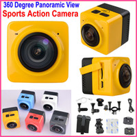 Wholesale Life H - CUBE360 Build-in WiFi Sports Action Camera Panorama 360 degree Panoramic VR Camera H.264 1280*1042P 28FPS Video Life DV car Camera FREE DHL