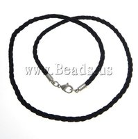 black nylon cord lobster - Fashion Necklace Cord Trendy Fashion Jewelry Nylon Cord brass lobster clasp black mm Length Inch