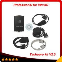 Wholesale Mileage Correction Tool Kit - 2015 Free Shipping Tachopro V2.0 Odometer Correction Mileage Tool Tools Tacho Pro Kit V2.0 Electric obd2 Auto Diagnostic Tool