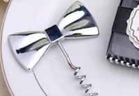 Black Tie Design Red Wine Bottle Opener Bow Tie Cavatappi Groomsmen Bomboniere regalo di nozze