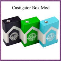 Wholesale El Cigarettes - Castigator box mod clone Parallel Dual 18650 castigador box mode cigarette Top Sale Ecig Mech Mod castigator box mod VS el box mods